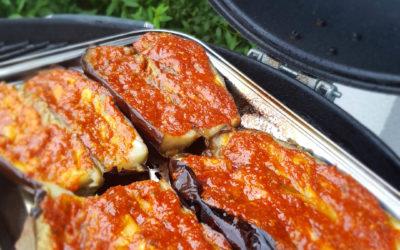 Czosnkowy bakłażan z grilla – po wegańsku