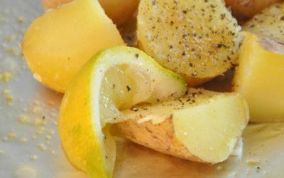 Cytrynowe ziemniaki z grilla. Dla wegan i nie tylko.