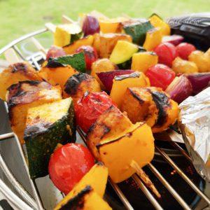 wegańskie szaszłyki na grilla