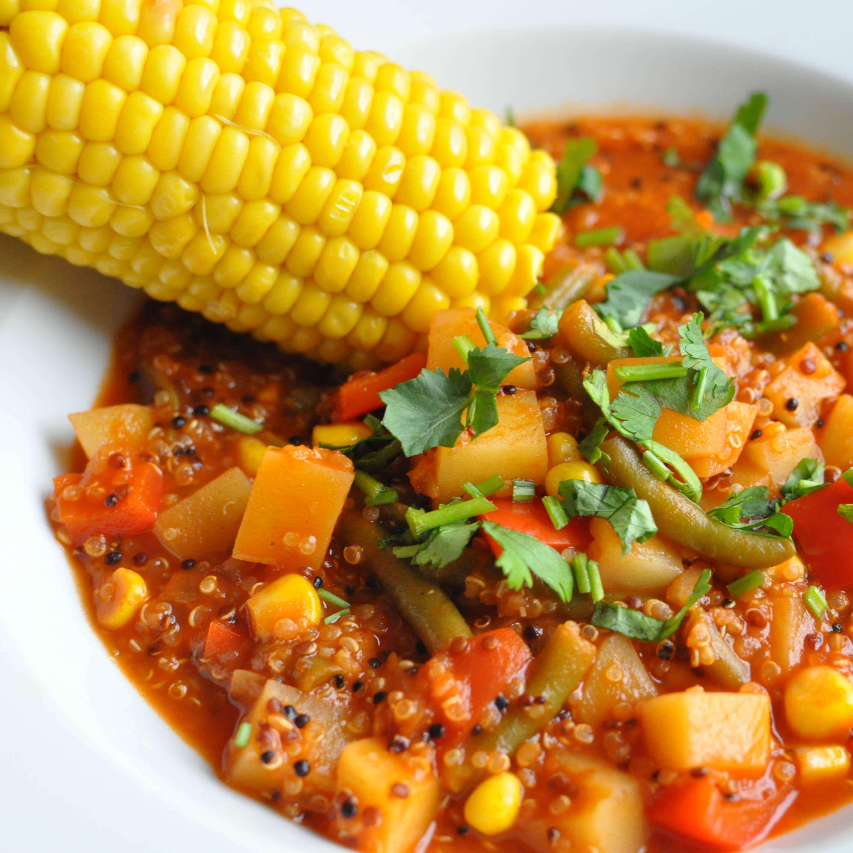zupa z quinoą i kukurydzą