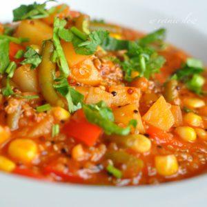 zupa quinoa z kukurydzą