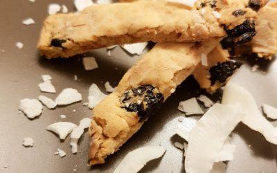 Znikające ciasteczka kokosowe z żurawiną – dla psa