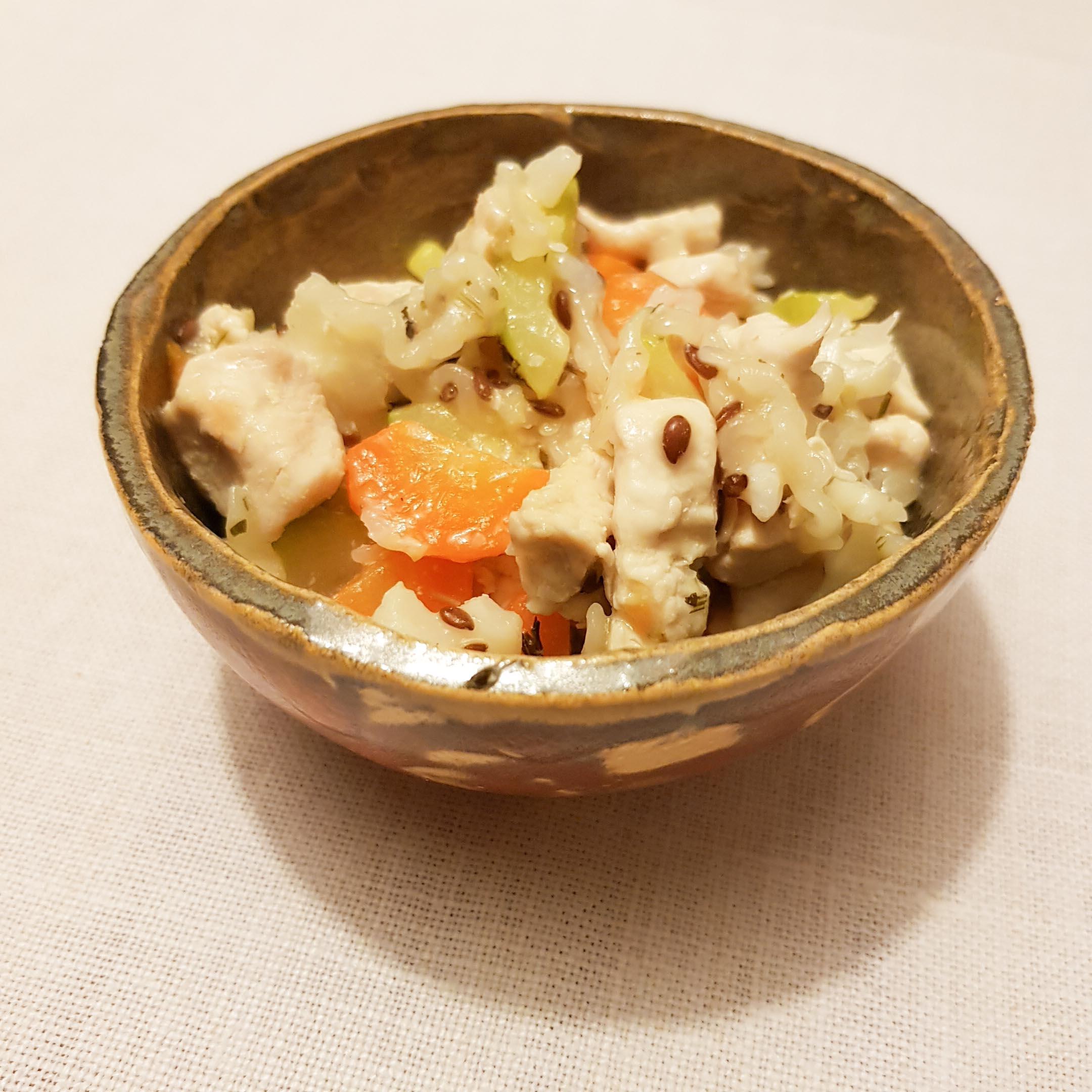 Delikatne jedzenie z kalafiorem