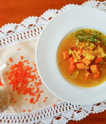 Zupa z soczewicą i batatem