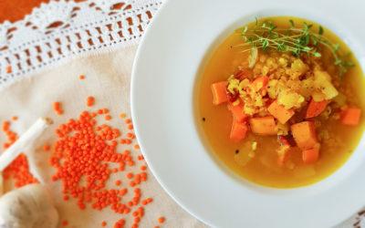 Zupa z soczewicą i batatem. Witając jesień.