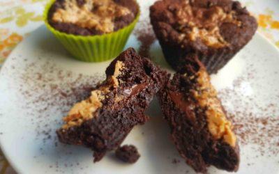 Wegańskie muffinki à la brownie.