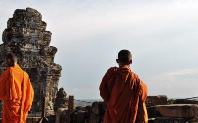 Najpiękniejsze zachody słońca są w Kambodży.