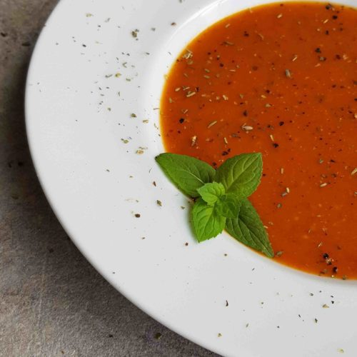 wegański krem z pomidorów