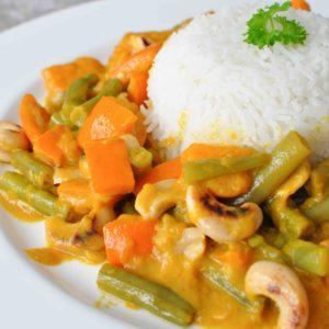 wegańskie curry z dynią